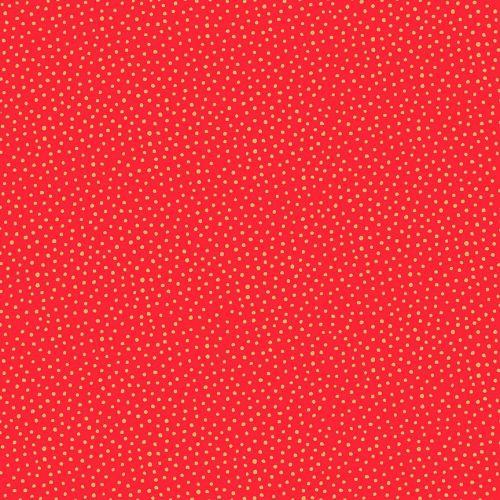 Makower - Christmas Santa Express Snowballs on red with metalic highlights