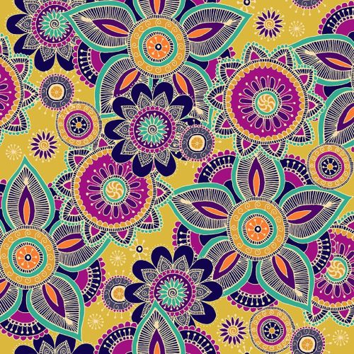 Makower - Henna by Beth Studley - Henna Yellow