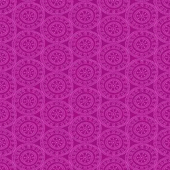 Makower - Henna by Beth Studley - Medallion Pink