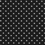 Cotton Poplin - 3mm Polka Dot - Black