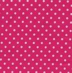 Cotton Poplin - 3mm Polka Dot - Cerise Pink