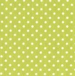 Cotton Poplin - 3mm Polka Dot - Lime Green