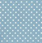 Cotton Poplin - 3mm Polka Dot - Pale Blue