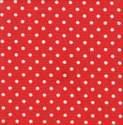 Cotton Poplin - 3mm Polka Dot - Sienna