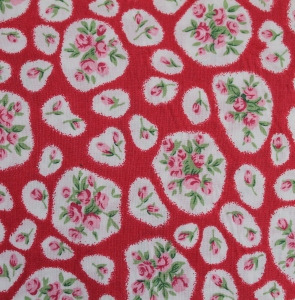 Cotton Lawn - Rose Patch - Red