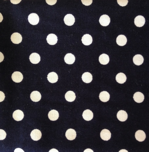Cotton Poplin - 7mm Polka Dot - Navy
