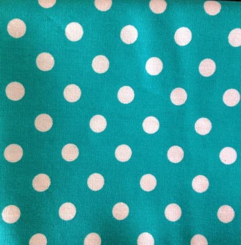 Cotton Poplin - 7mm Polka Dot - Turquoise