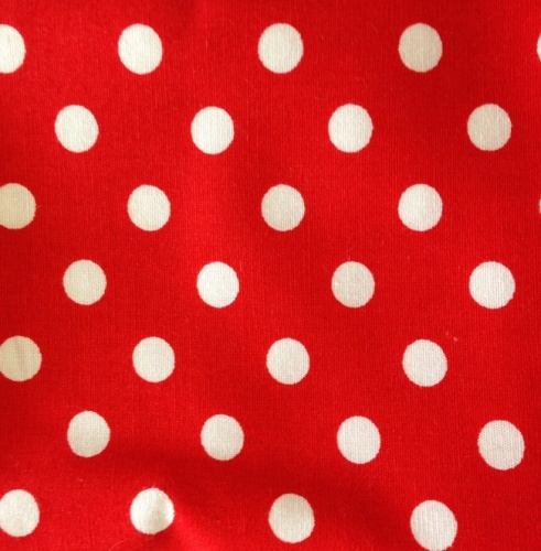 Cotton Poplin - 7mm Polka Dot - Red