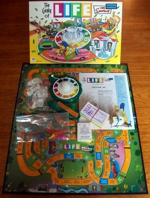 'The Simpson's Game Of Life' Board Game