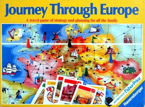Journey Through Europe Board Game | Vintage Board Games & Classic Toys | Vintage Playtime