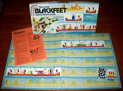 'The Great Blackfeet Indian Canoe Game' Card Game