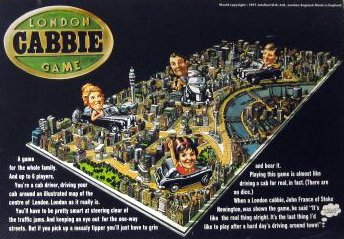 London Cabbie Game Board Game | Vintage Board Games & Classic Toys | Vintage Playtime