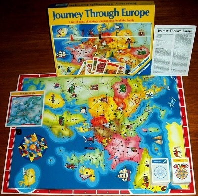 'Journey Through Europe' Board Game