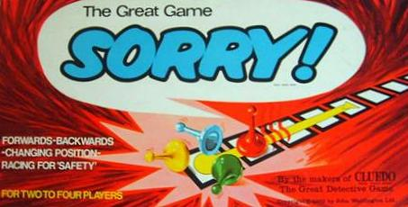 Sorry! Board Game | Vintage Board Games & Classic Toys | Vintage Playtime