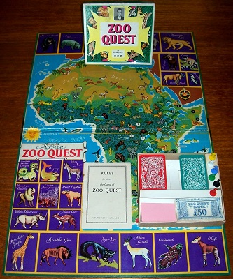 'Zoo Quest' Board Game