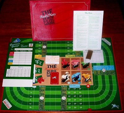 'The Really Nasty Horse Racing Game' Board Game: UNUSED