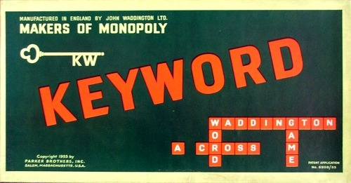 Keyword Board Game | Vintage Board Games & Classic Toys | Vintage Playtime
