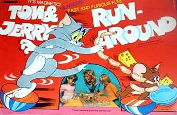 Tom & Jerry Run-Around Board Game | Vintage Board Games & Classic Toys | Vintage Playtime
