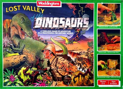 Lost Valley Of The Dinosaurs Board Game | Vintage Board Games & Classic Toys | Vintage Playtime