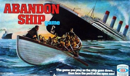 Abandon Ship Board Game | Vintage Board Games & Classic Toys | Vintage Playtime