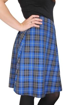 TARTAN SKIRT - Royal blue