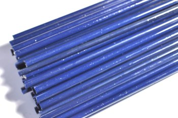 SPECIAL OFFER - Steel Blue Opaque - Gaffer Glass Rods / Cane - CoE 96 - G123
