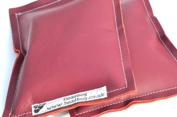 Elbow Pads for Lampwork Bead Making - Dark Burgundy