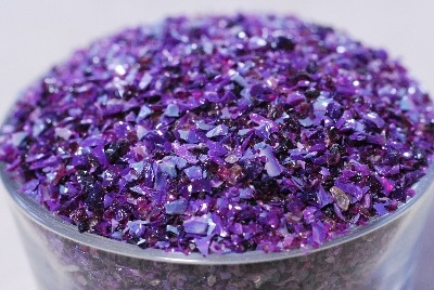 Royal Purple - Gaffer Royal Purple Glass Frit - CoE 96 - G198 - Size K1