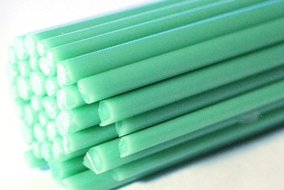 Isar Green Rods - Reichenbach Glass Rods - CoE 94 (+/-2) - RW0243