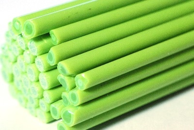 Seed Green Rods - Reichenbach Glass Rods - CoE 94 (+/-2) - RW0188