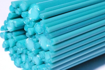 Robin's Egg Blue Rods - Gaffer Glass Rods - CoE 96 - G124