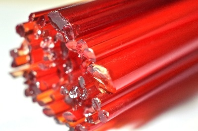 Cherry Red - Gaffer Glass Rods / Cane - CoE 96 - G074