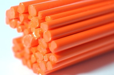 SPECIAL OFFER - Orange Opal - Gaffer Glass Rods / Cane - CoE 96 - G182
