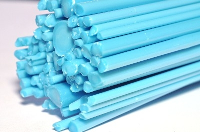 Pale Blue Turquoise - Gaffer Glass Rods / Cane - CoE 96 - G127