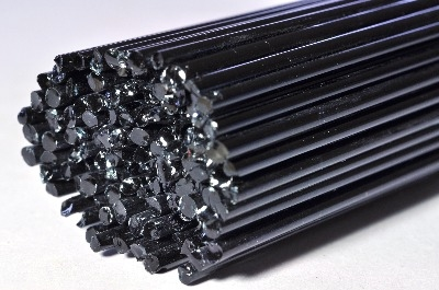 Steel Grey - Gaffer Glass Rods / Cane - CoE 96 - G025