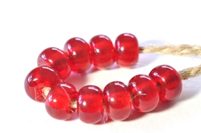 cherry red beads sized