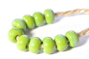 lime green beads - sized