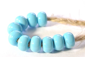 pale blue turquiose beads sized