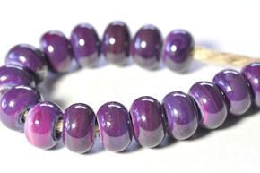 royal purple beads sized