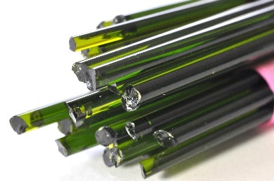 Lime Green Transparent - Gaffer Glass Stringers (thin rods) - CoE 96 - G036