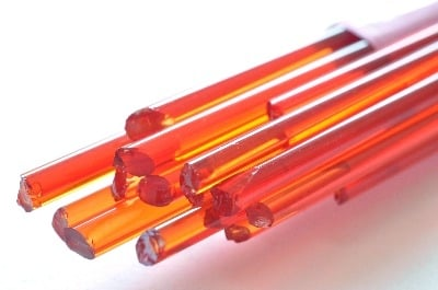 Cherry Red - Gaffer Glass Stringers (thin rods) - CoE 96 - G074
