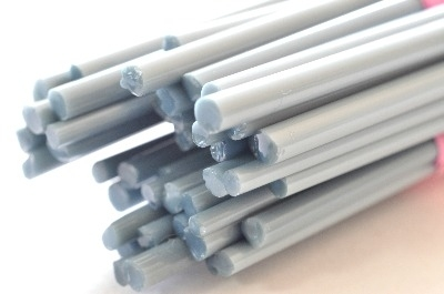 Pigeon Grey - Gaffer Glass Stringers (thin rods) - CoE 96 - G108