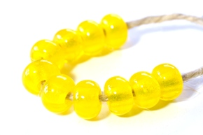 yellow beads sized