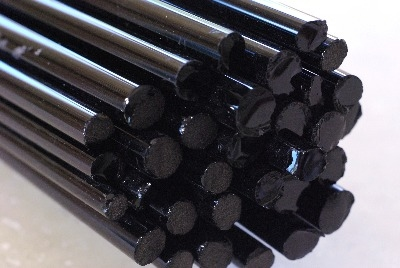 Black Lustre - Gaffer Glass Rods / Cane - CoE 96 - G062