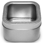 Square Tin with Clear Lid - Medium