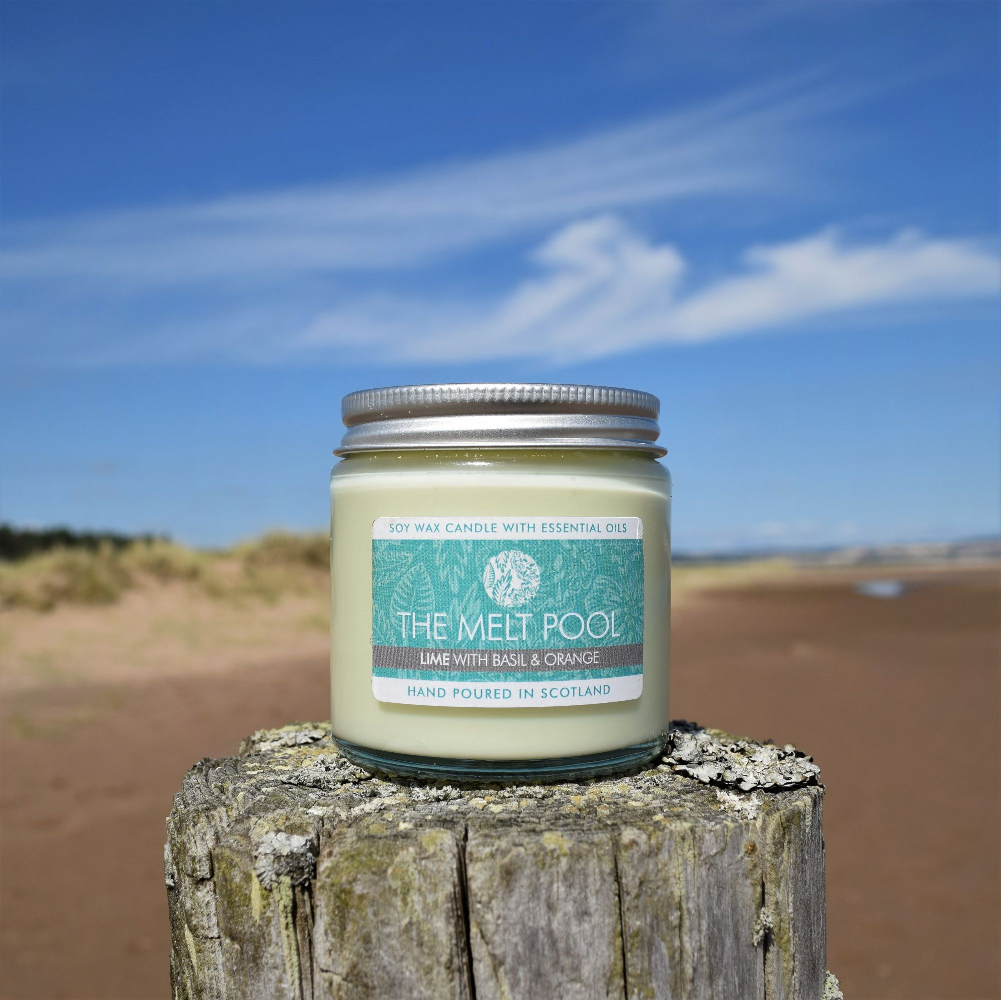 Small Jar Soy Wax Candle Scented with Essential Oils