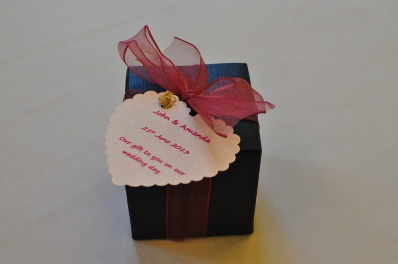 boxed wedding favour tealight candles