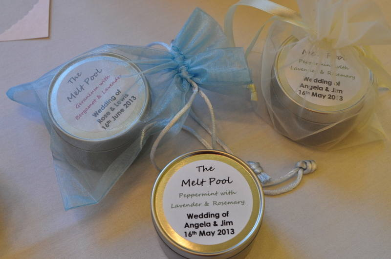 silver tin candle wedding favours