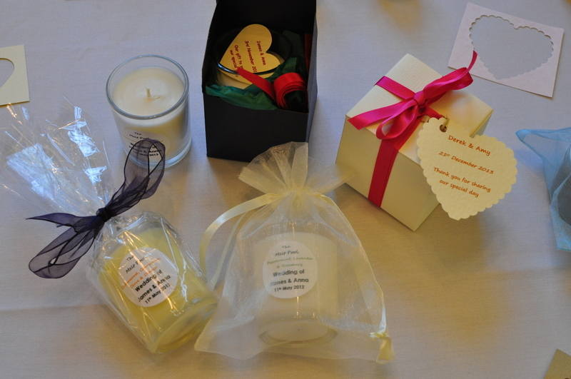 votive wedding favour candles