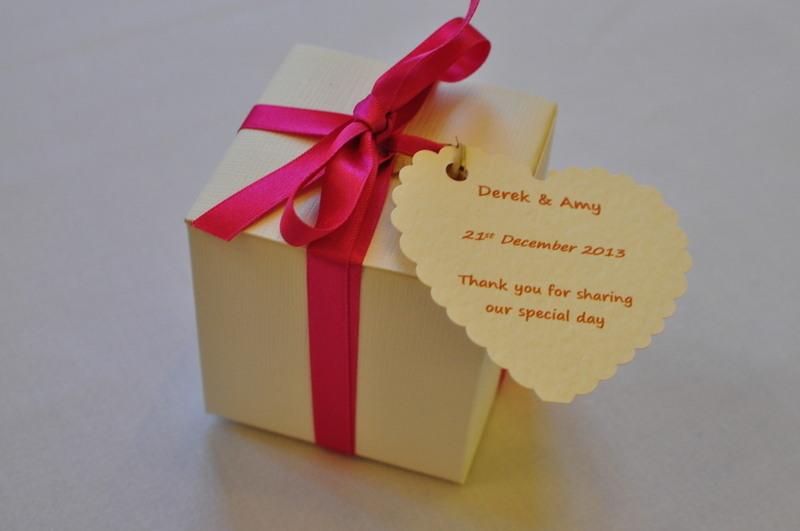 gift boxed wedding favour candle
